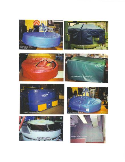 VIBRATORY BOWL AND TUB NOISE COVERS